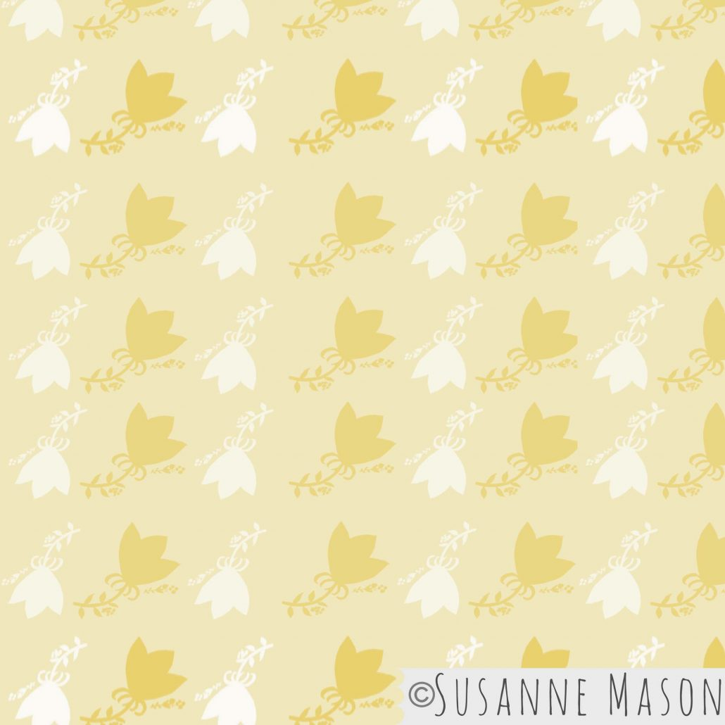Morning Light, bright pattern by Susanne Mason pattern design