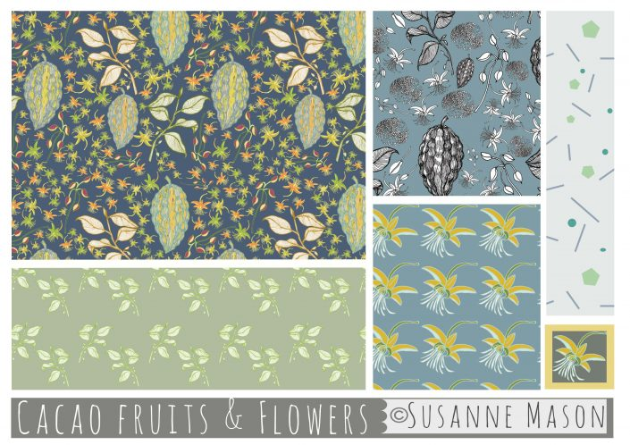 Chocolate Fruit collection, Susanne Mason design