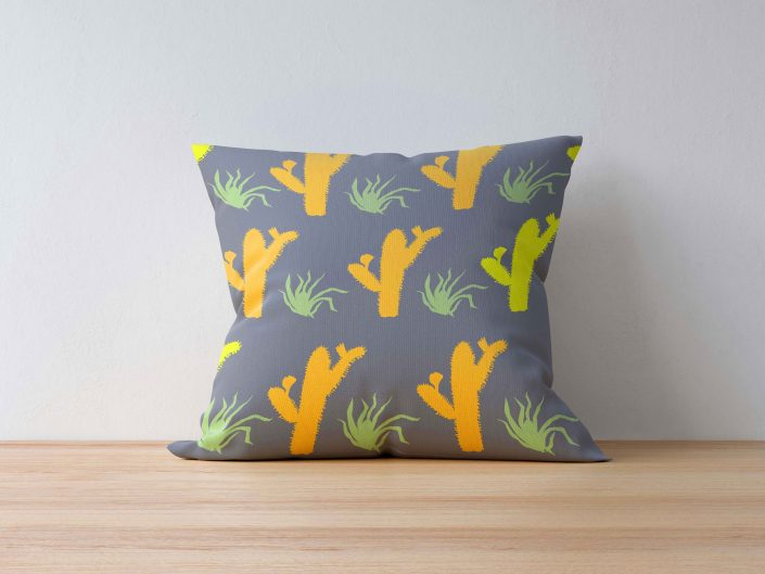 Yucatan pattern on pillow, fabric available at Spoonflower