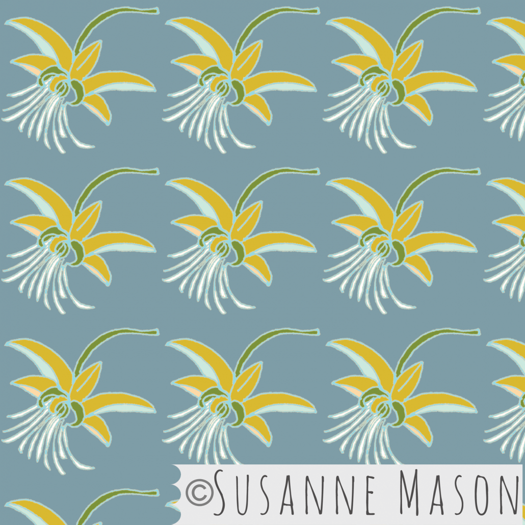 Susanne Mason design, Chocolate flower pattern