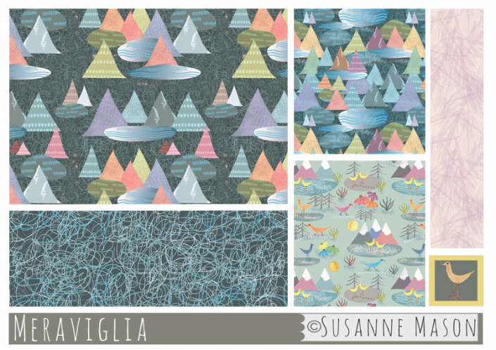Meraviglia pattern collection, by Susanne Mason