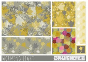 Morning Light, a pattern collection designed by Susanne Mason