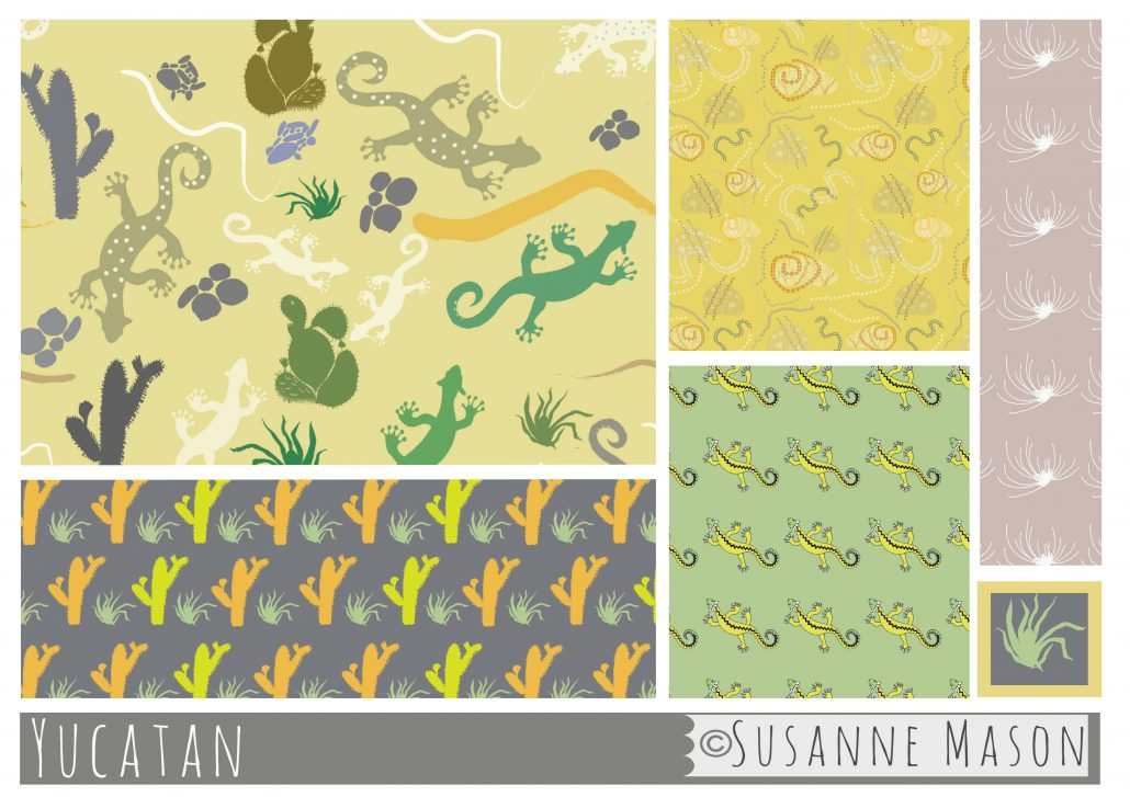 "collection ""Yucatan"", Susanne Mason surface pattern design"