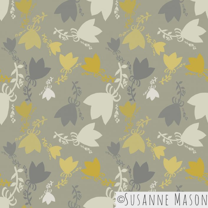 Morning Light, tossed grey pattern by Susanne Mason pattern design