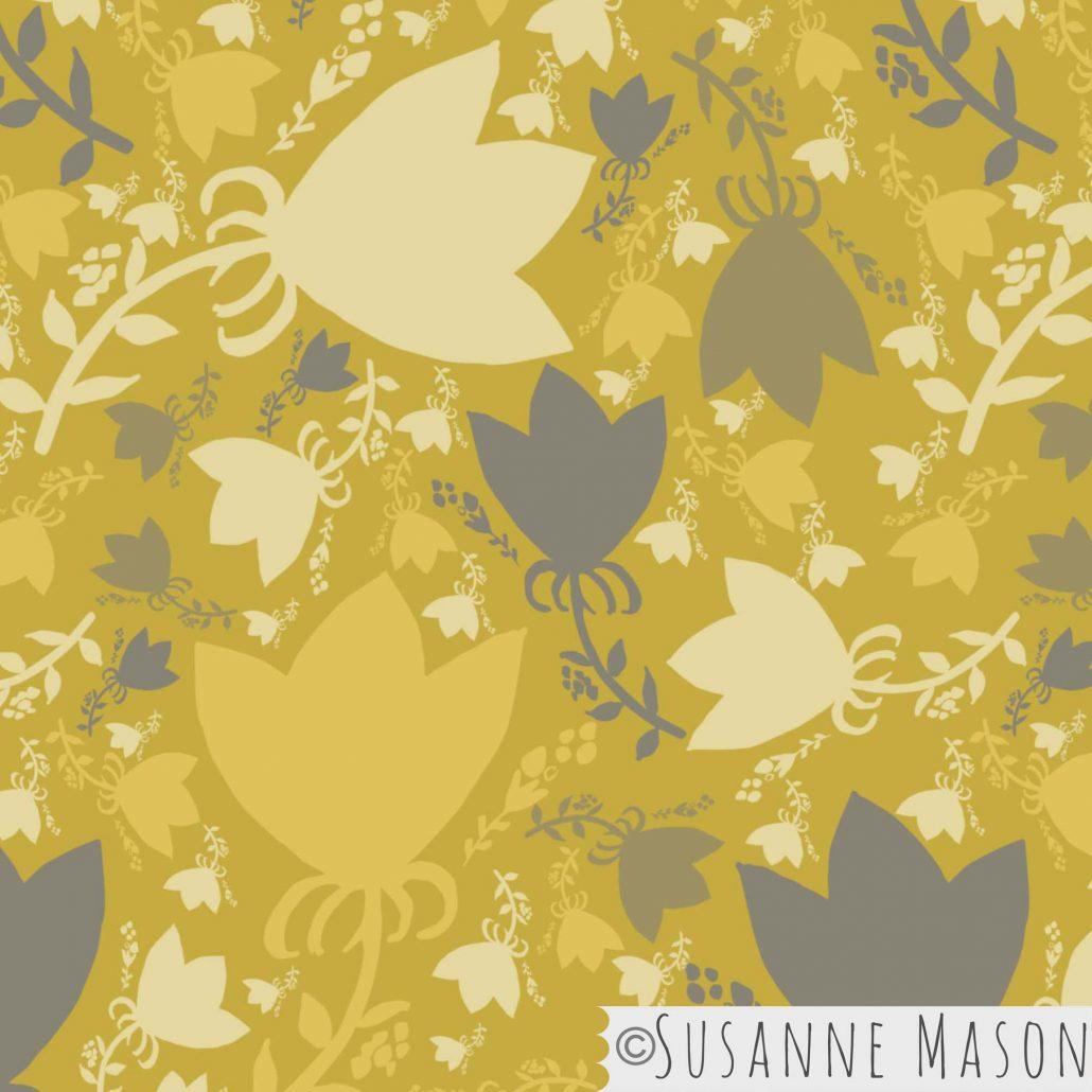Morning Light, tossed main pattern by Susanne Mason pattern design