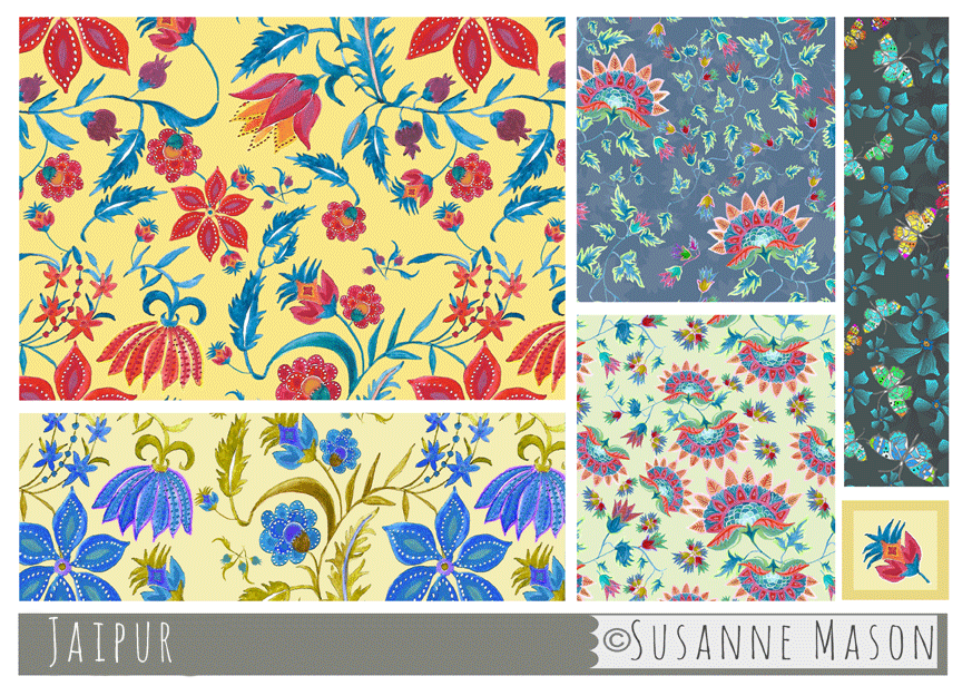 Jaipur pattern collection, Susanne Mason design