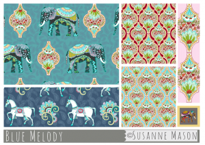 Susanne Mason design, Blue Melody