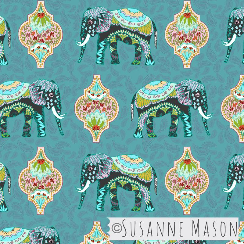 Procession, pattern by Susanne Mason design