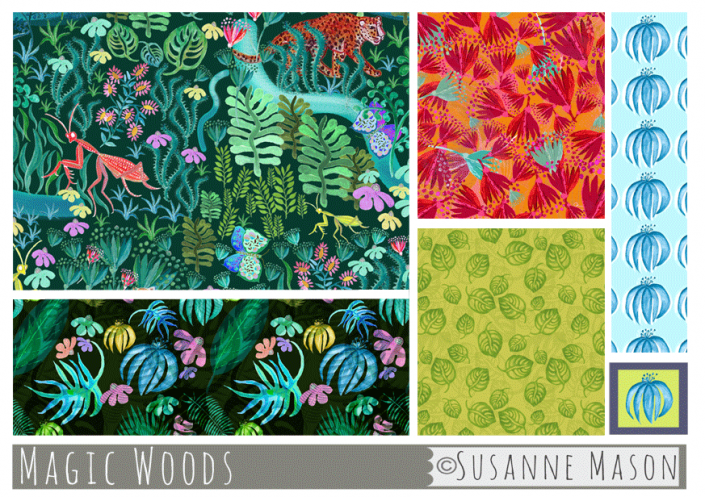 Magic Woods Pattern Collection, Susanne Mason design