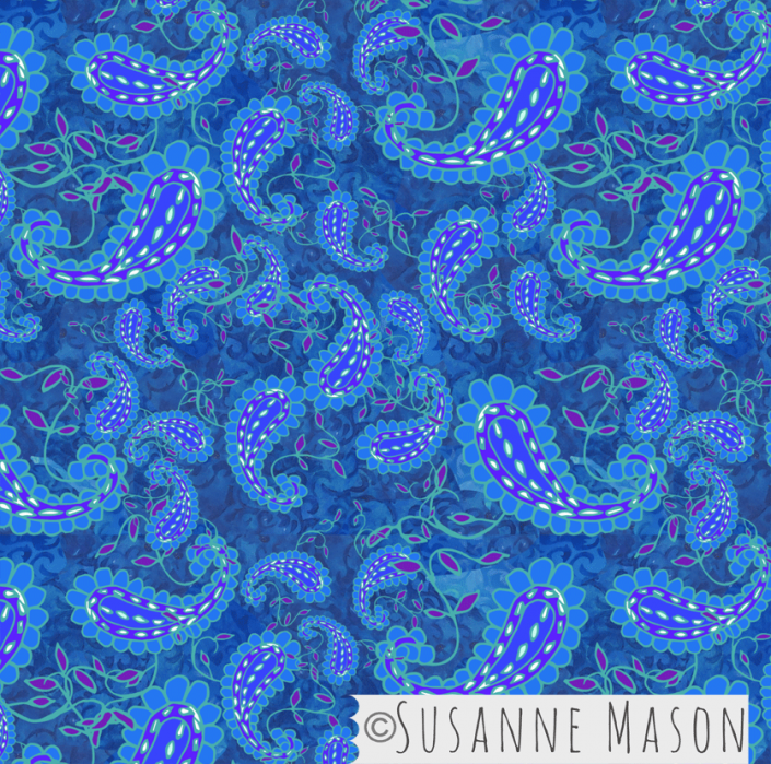 Blue Dance, Susanne Mason design
