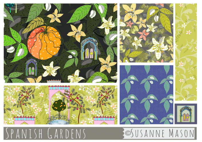 Pattern Collection Spanish Gardens, Susanne Mason