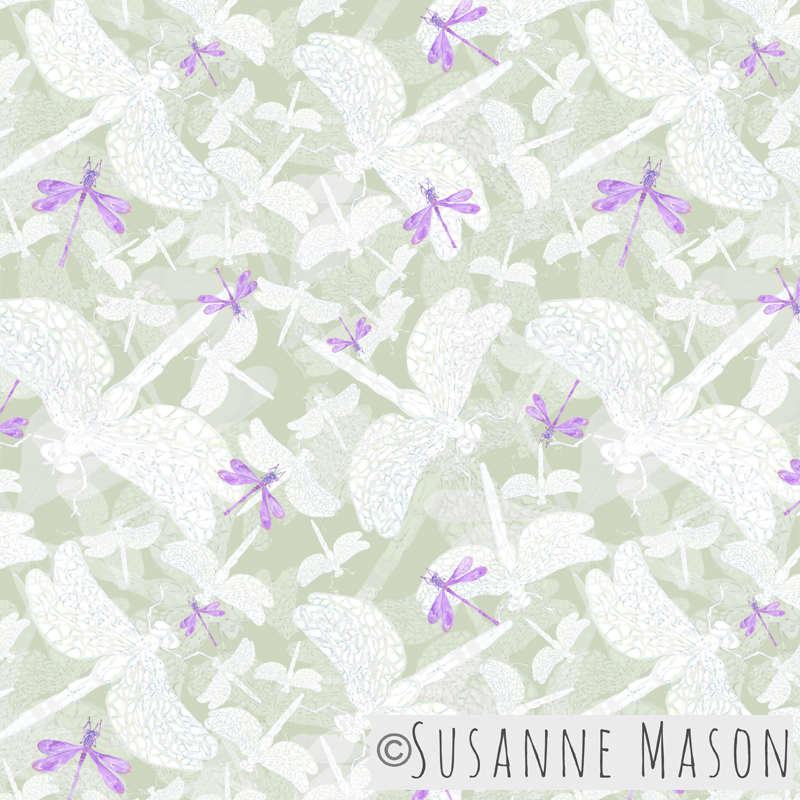 Dragonflies Pattern, Susanne Mason design
