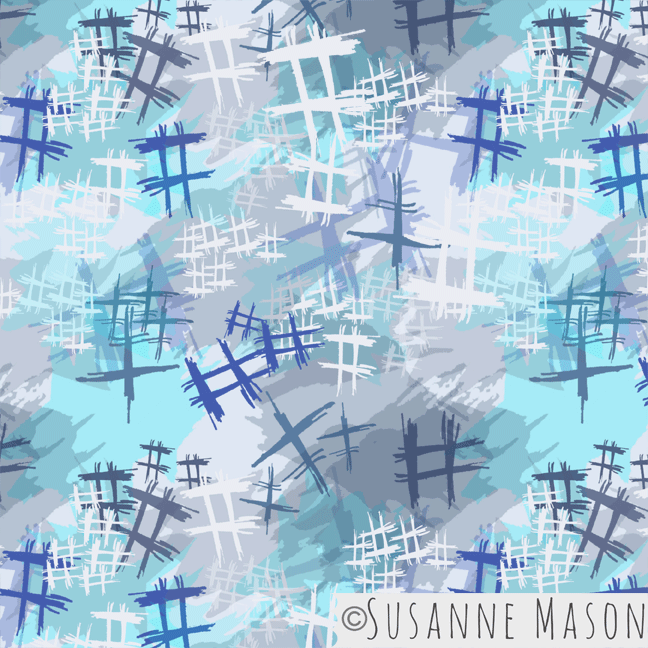 Abstract Japanese pattern, Susanne Mason design