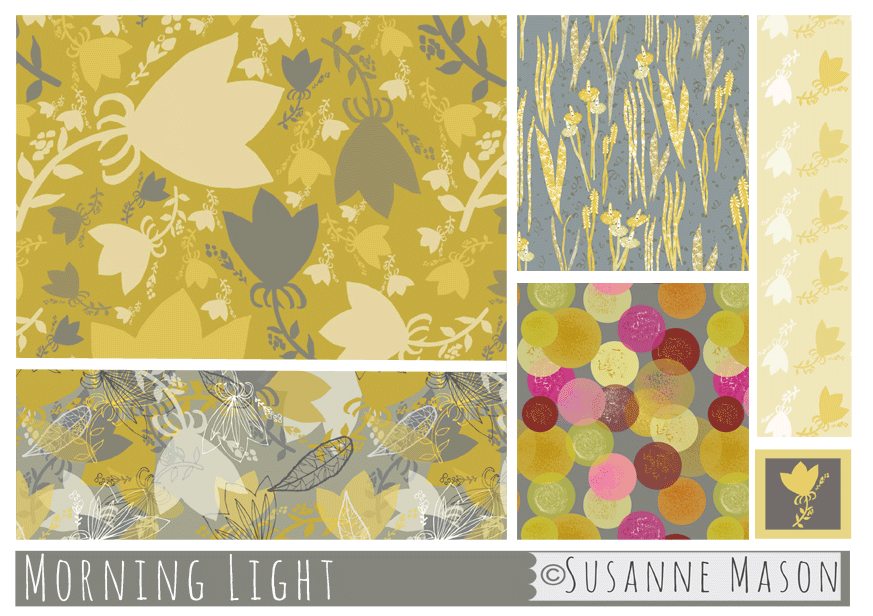 Morning Light pattern collection, Susanne Mason design