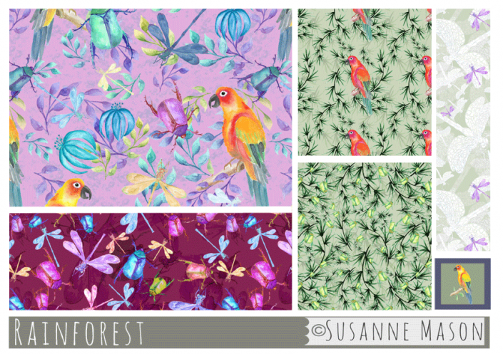 Rainforest Pattern Collection, Susanne Mason design