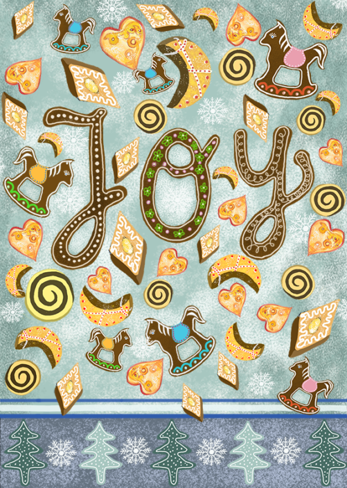 Joy, Christmas card by Susanne Mason