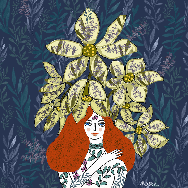 Flower Power Girl, Illustration by Susanne Mason