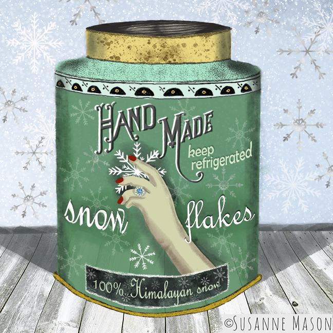 Snowflake tin, by Susanne Mason