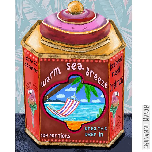 Warm Sea Breeze tin, by Susanne Mason