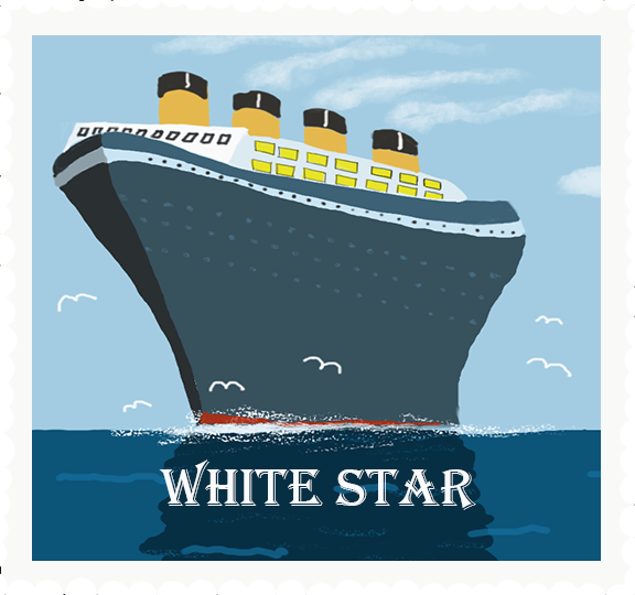 White STAR stamp by Susanne Mason