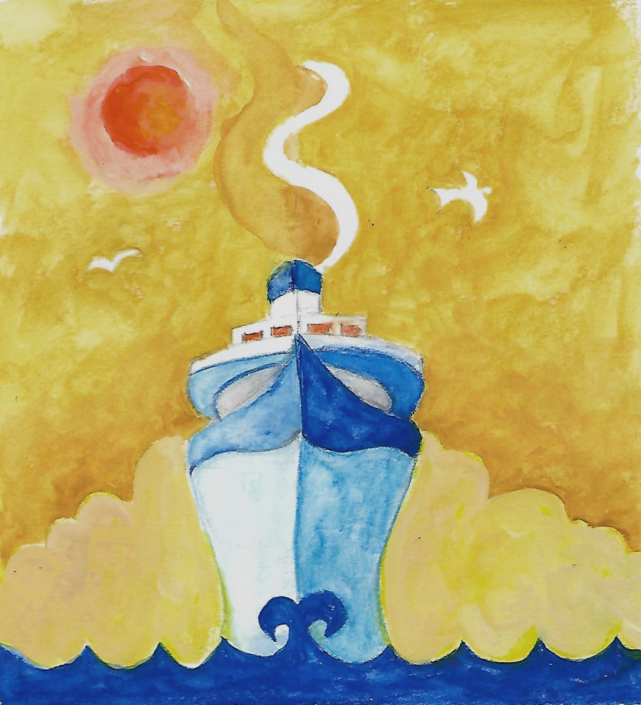 ship illustration by Susanne Mason