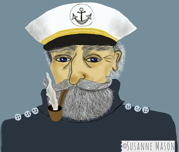 captain portrait by Susanne Mason