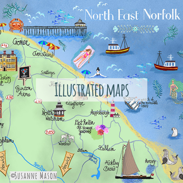 illustrated maps by Susanne Mason