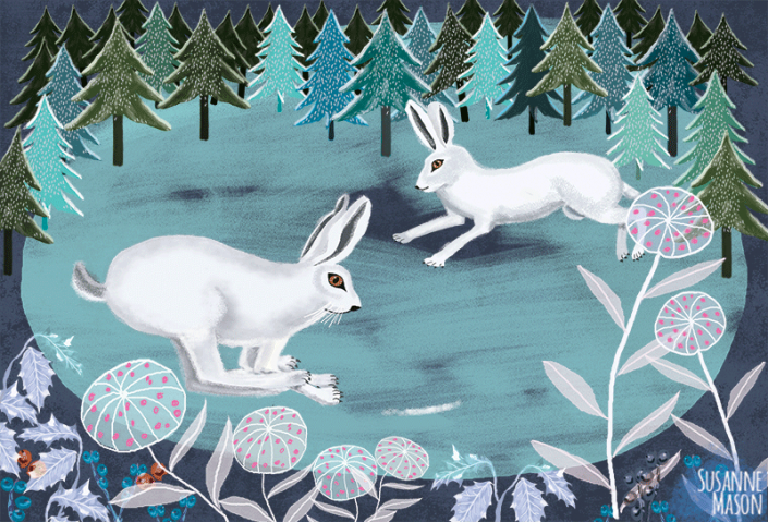 Playing hares, by Susanne Mason