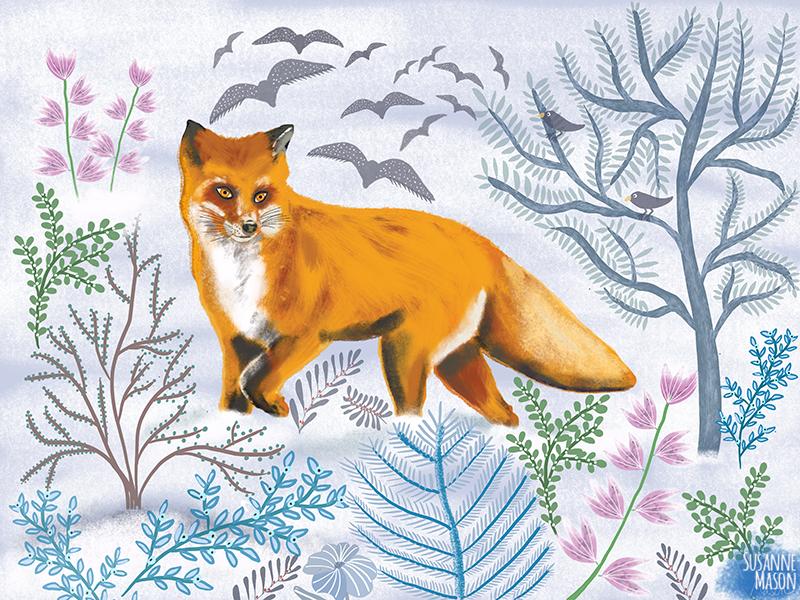 Winter Day, illustration by Susanne Mason
