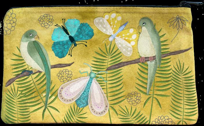 Nostalgia Fabric Pouch, by Susanne Mason