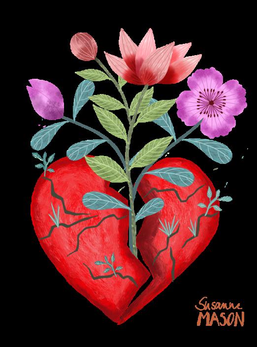 Heartbreak illustration, by Susanne Mason