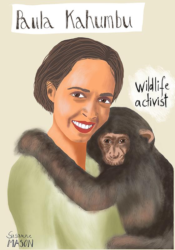 Paula Kahambu, editorial portrait by Susanne Mason