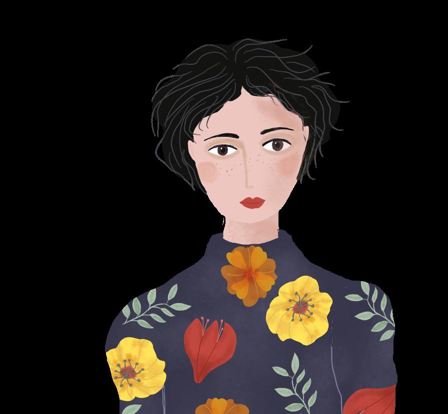 woman, editorial illustrationby Susanne Mason