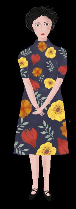 woman, editorial illustration by Susanne Mason