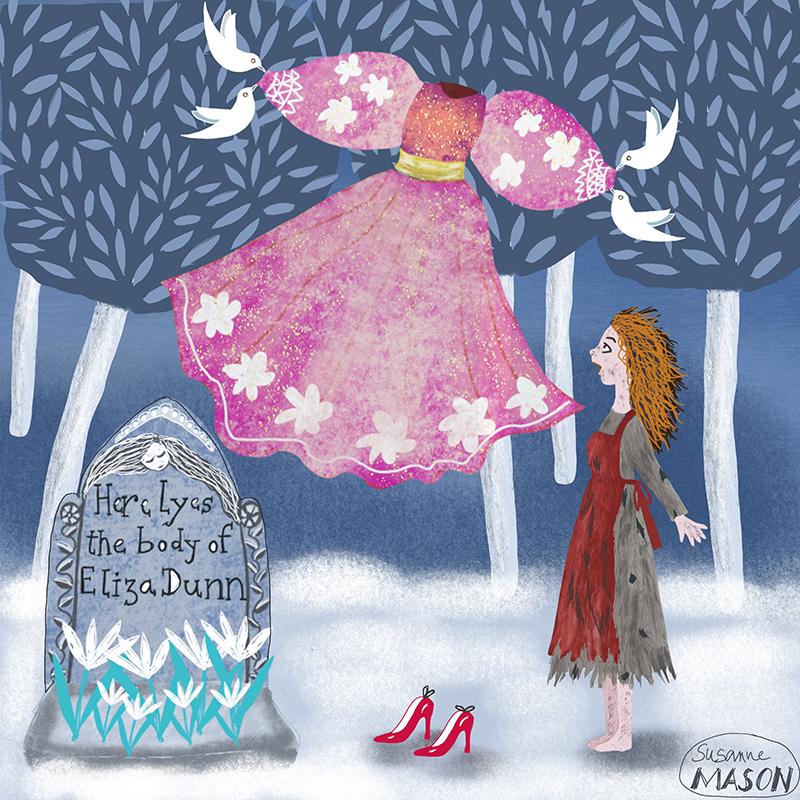 cinderella, folktale illustration by Susanne Mason