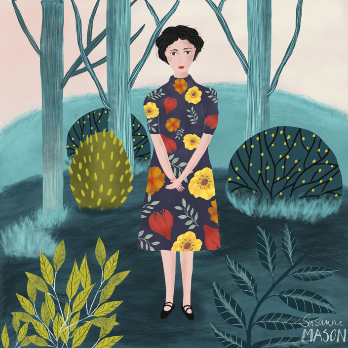Blue Hills, editorial illustrationby Susanne Mason