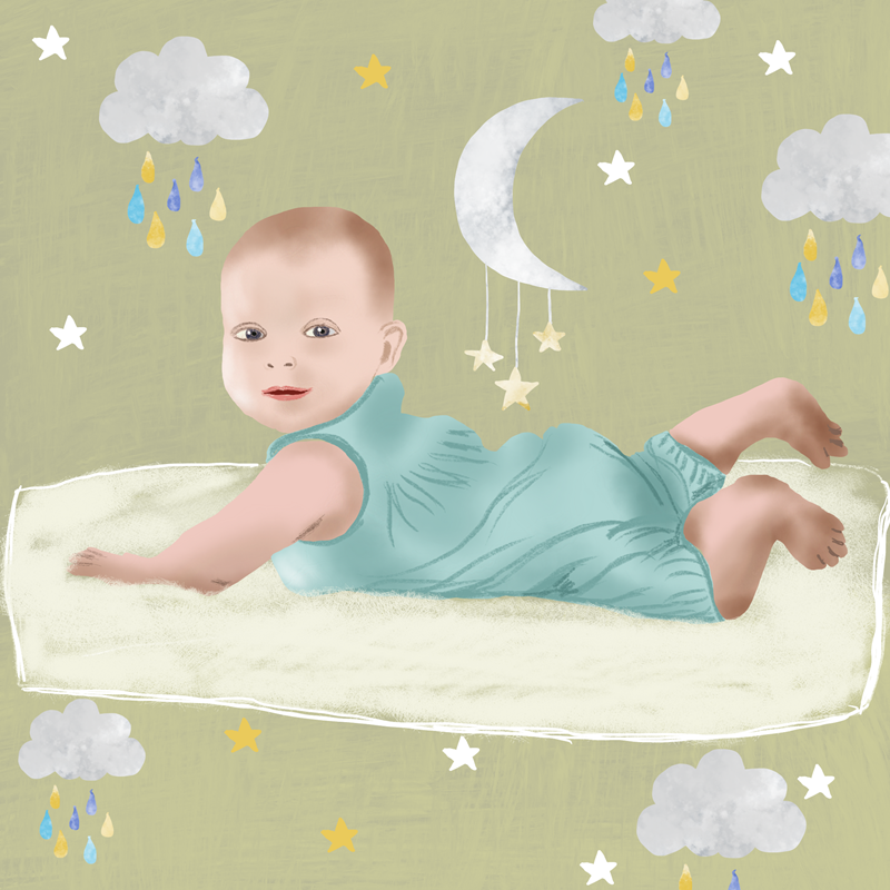 Baby, editorial illustration by Susanne Mason