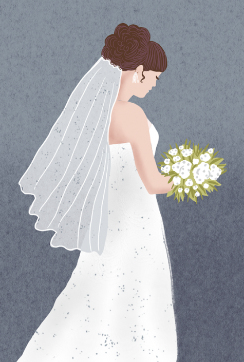 bride,editorial illustration