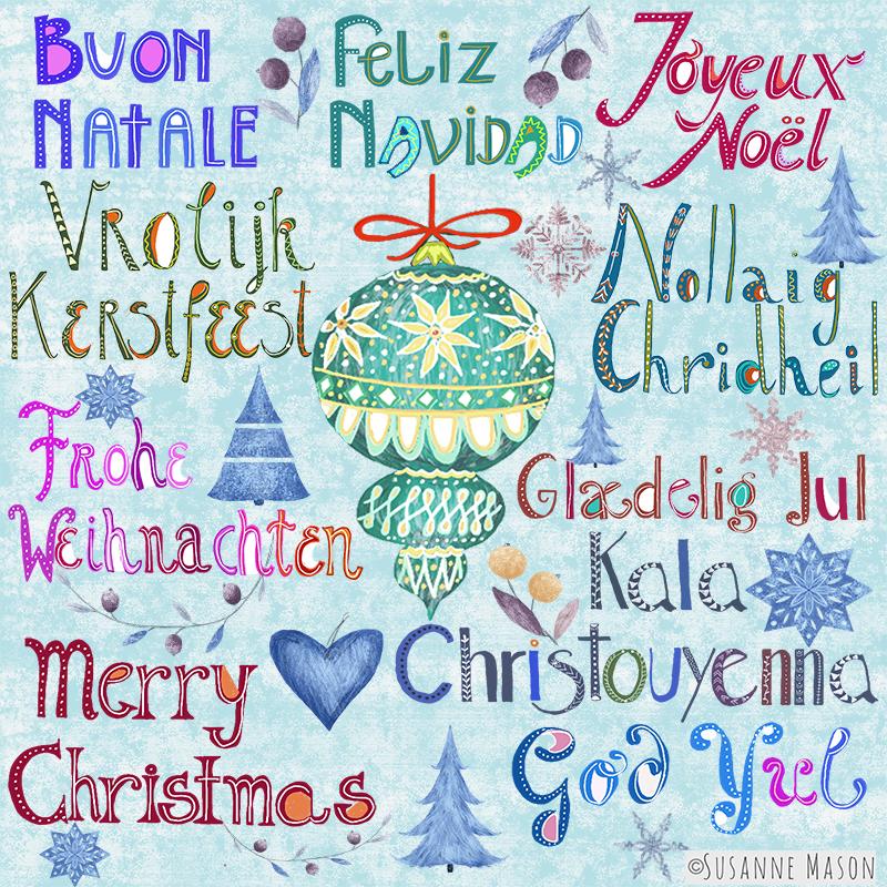 Christmas illustration by Susanne Mason