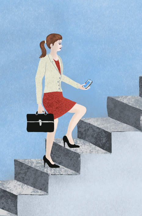 career woman, editorial illustrationby Susanne Mason