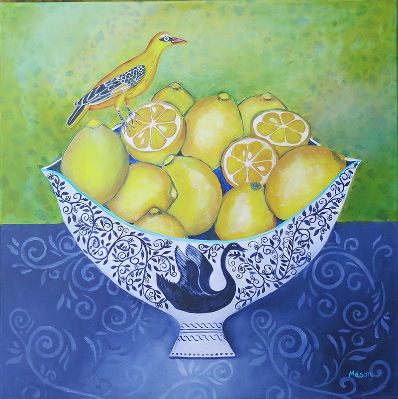 Citrus Delight (acrylics on canvas, 50x50cm)