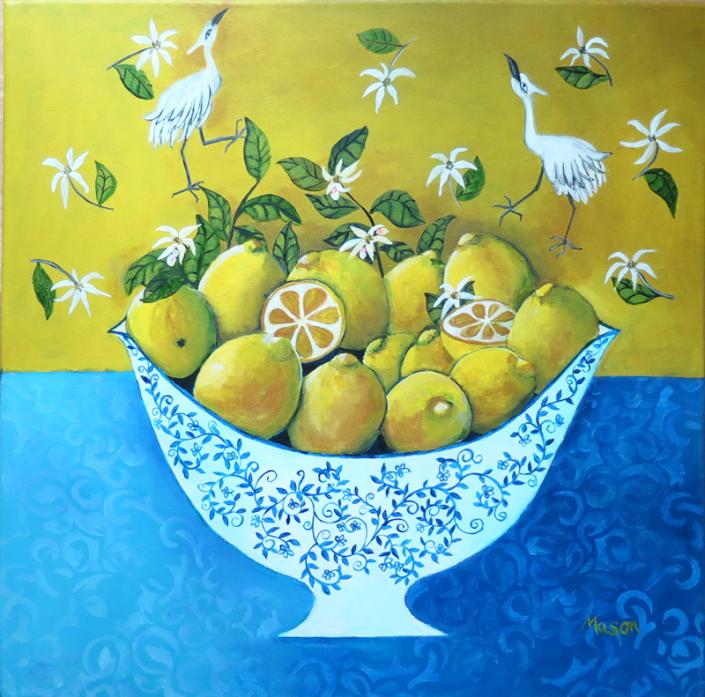 SOLD Fresh Summer Breeze (acrylics on canvas, 50x50 cm)