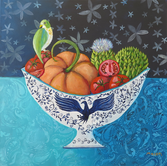 Nature's Bounty (acrylics on canvas, 50x50 cm)