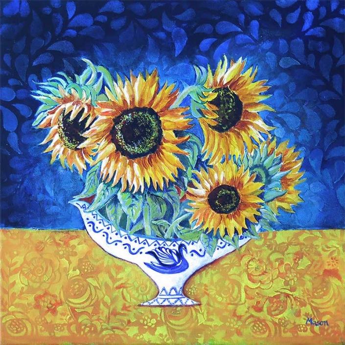 Summer Dream (acrylics on canvas, 40x40 cm)