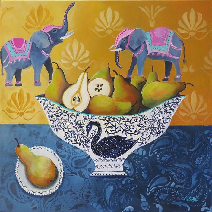 Sweet Comfort (acrylics on canvas 50x50 cm)