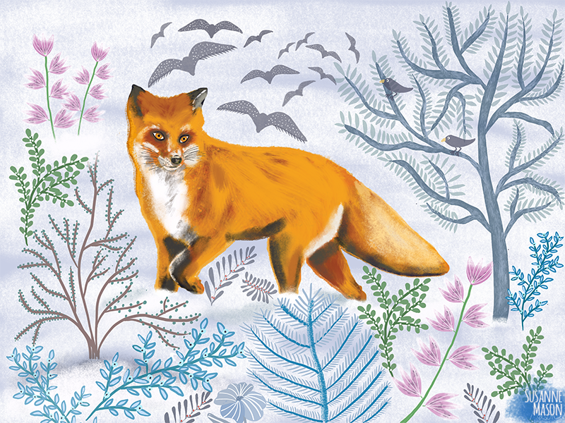 winter illustration by Susanne Mason