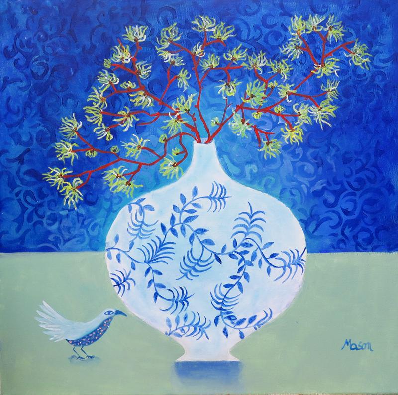 Witchhazel, by Susanne Mason (acrylics on canvas, 50x50cm)